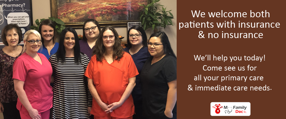 Dr. Ravin Talati and staff welcome both patients with insurance and no insurance. Come see us for all your primary and immediate care needs.